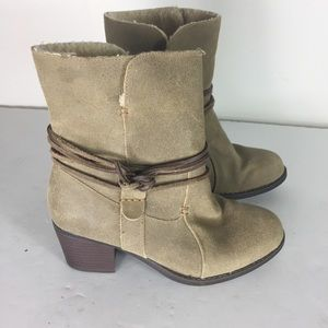 Eddie Bauer Brown Leather Boho Ankle Western Boots